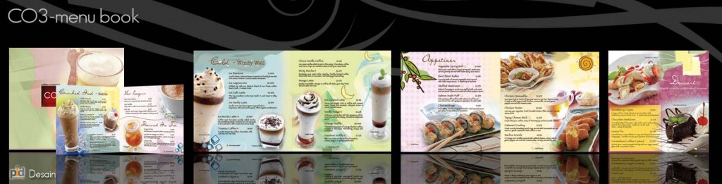 design menu book